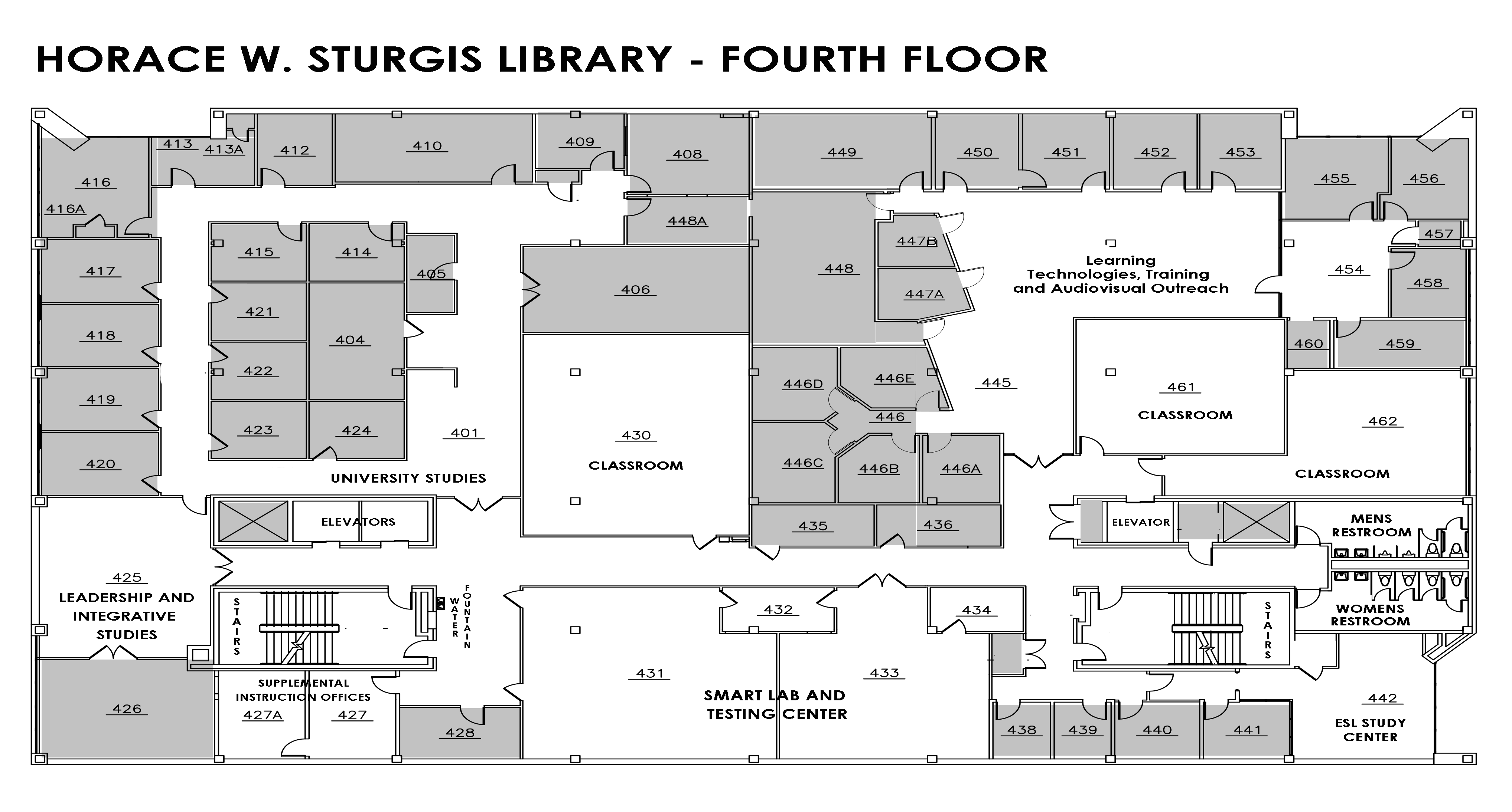 Sturgis Library Fourth Floor