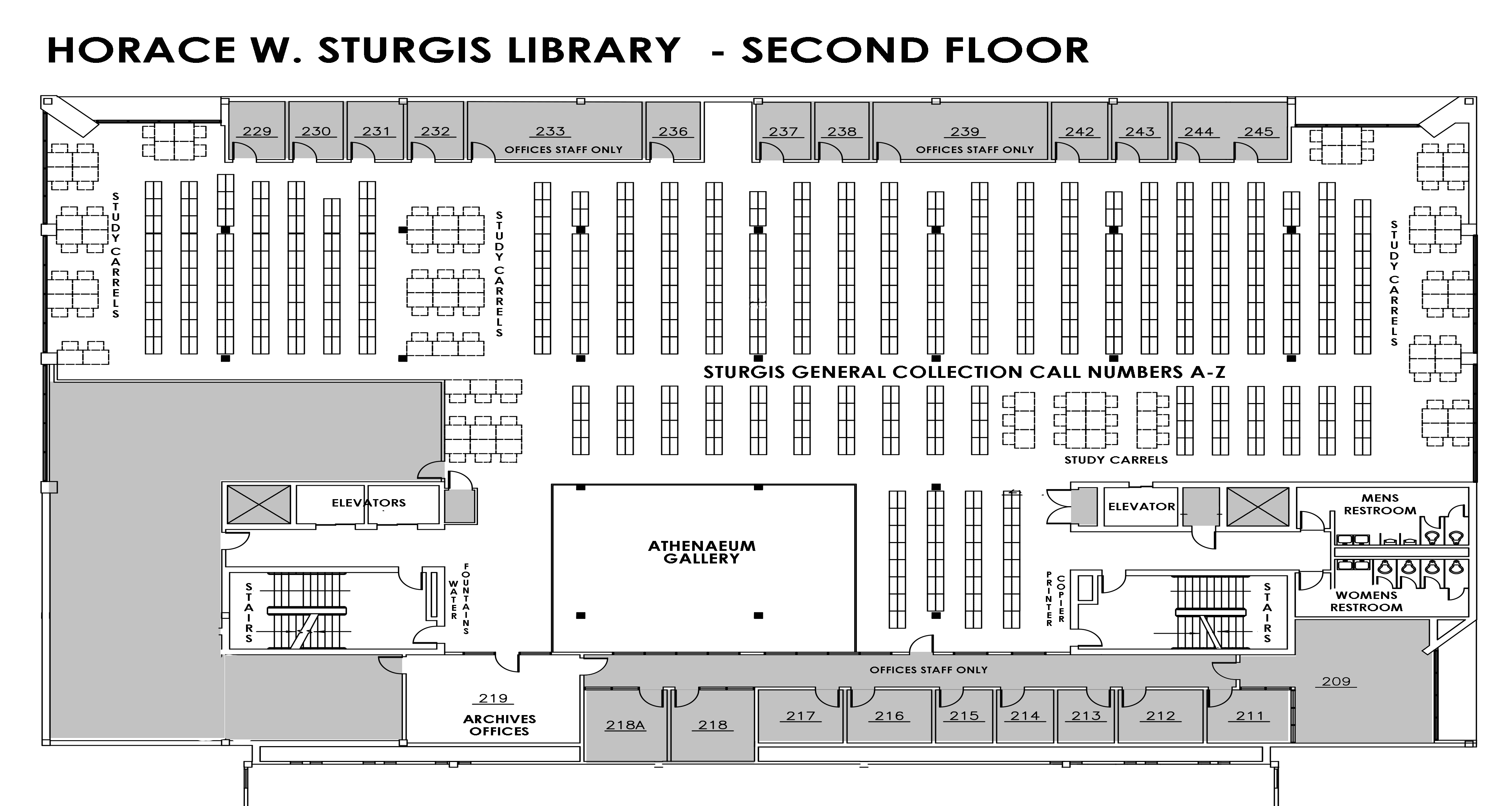 Sturgis Library Second Floor