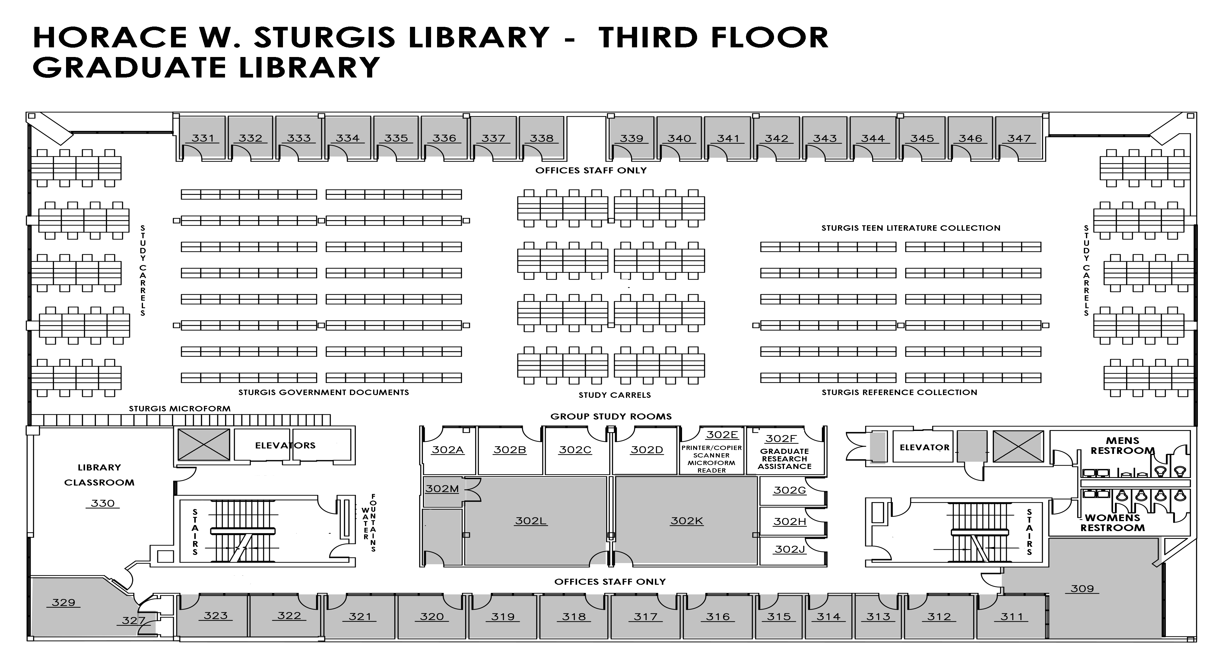 Sturgis Library third floor